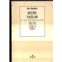 Seçme Yazılar H.Von Hofmannsthal Batı Klasikleri