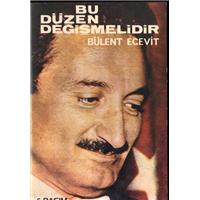 Bu Düzen Değişmelidir Bülent Ecevit Tekin Yayınevi Basım Tarihi 1978