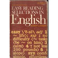 Easy Readıng Selectıons In Englısh Robert J.Dıxson ABC Yayınevi Basım Tarihi 1984