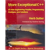MORE EXCEPTİONAL C++ HERB SUTTER 2002 BASIM