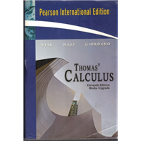 International Edition Thomas Calculus Eleventh Edition Media Upgrade Weir-Hass-Giordano