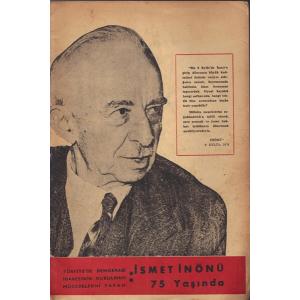 İsmet İnönü 75 Yaşında Güngör Göktan Refah Basımevi  1958 Basım